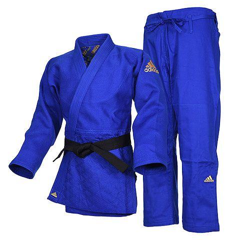 Kimono Judô adidas J990 Millenium Azul/Dourado