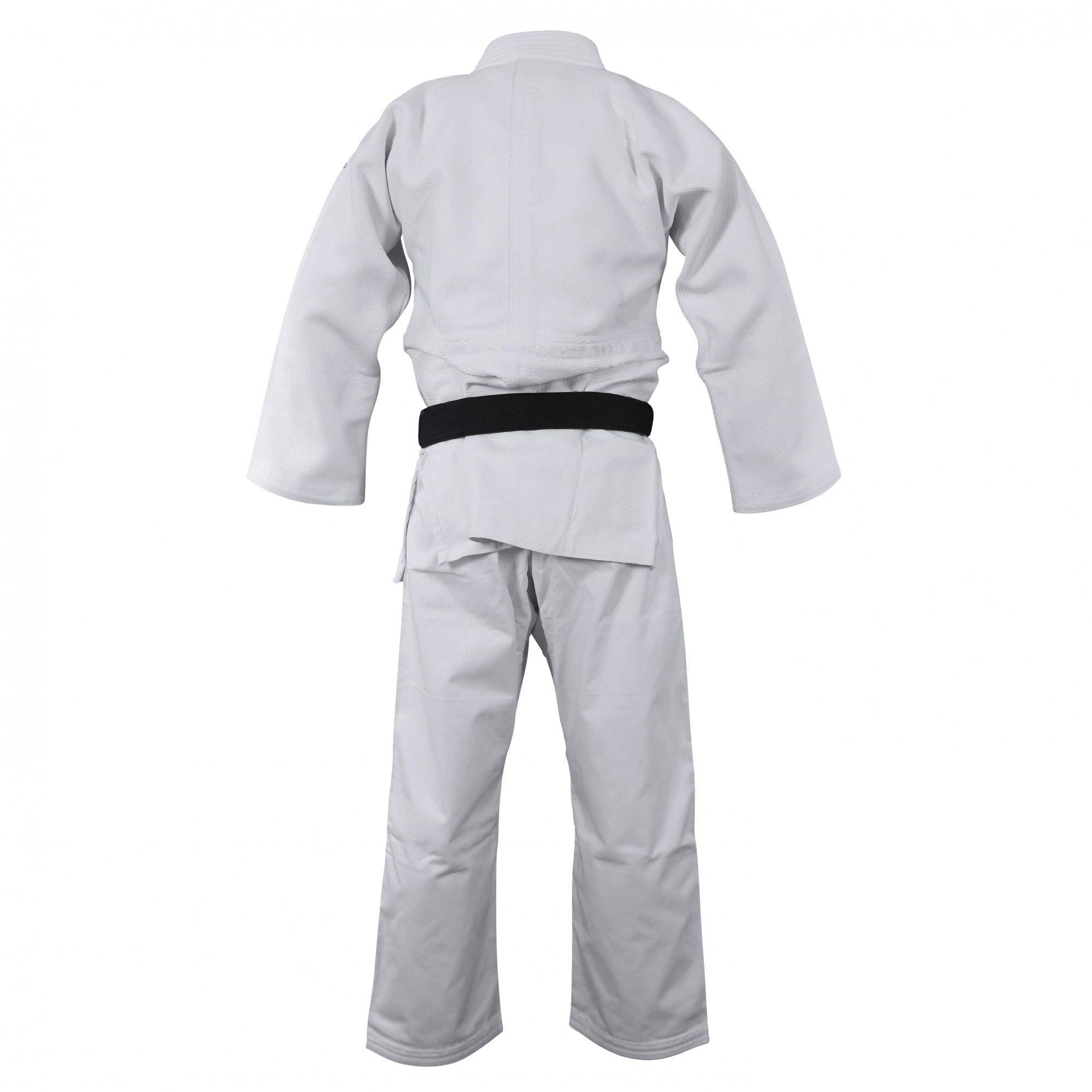 Kimono Judô adidas J990 Millenium Branco com listra Verde