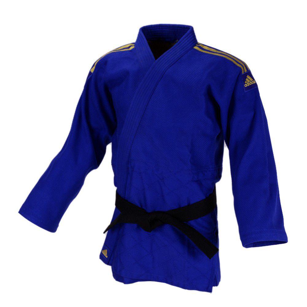 Kimono Judô adidas Quest J690 Azul/Dourado