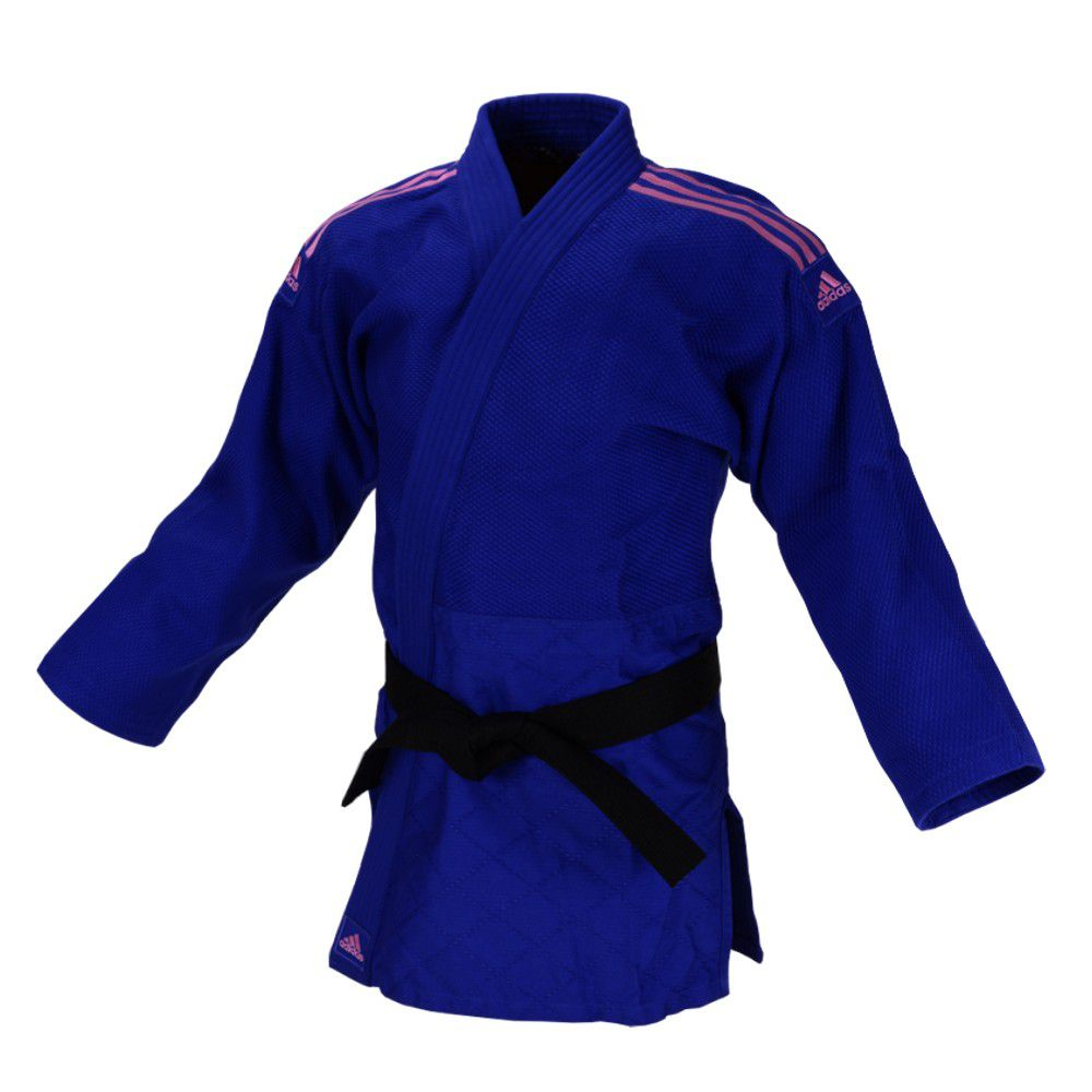 Kimono Judô adidas Quest J690 Azul/Rosa