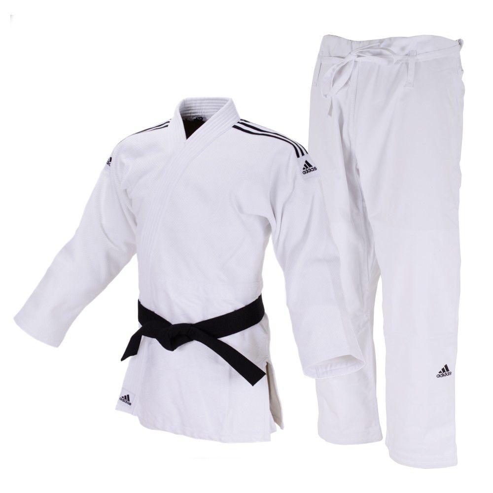 Kimono Judô adidas Quest J690 Branco/Preto
