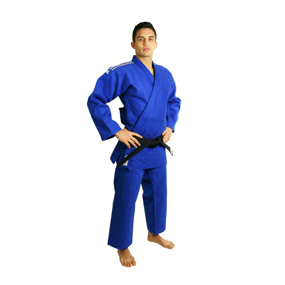 Kimono Judô adidas Champion II Azul - Selo eletrônico IJF
