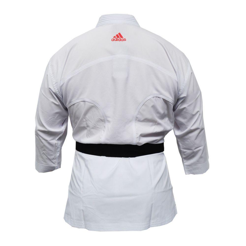 Kimono Karate adidas AdiLight com listras vermelhas