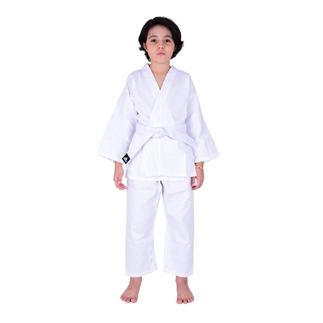 Kimono Karate adidas Iniciante K200 2.0 AdiStart Branco