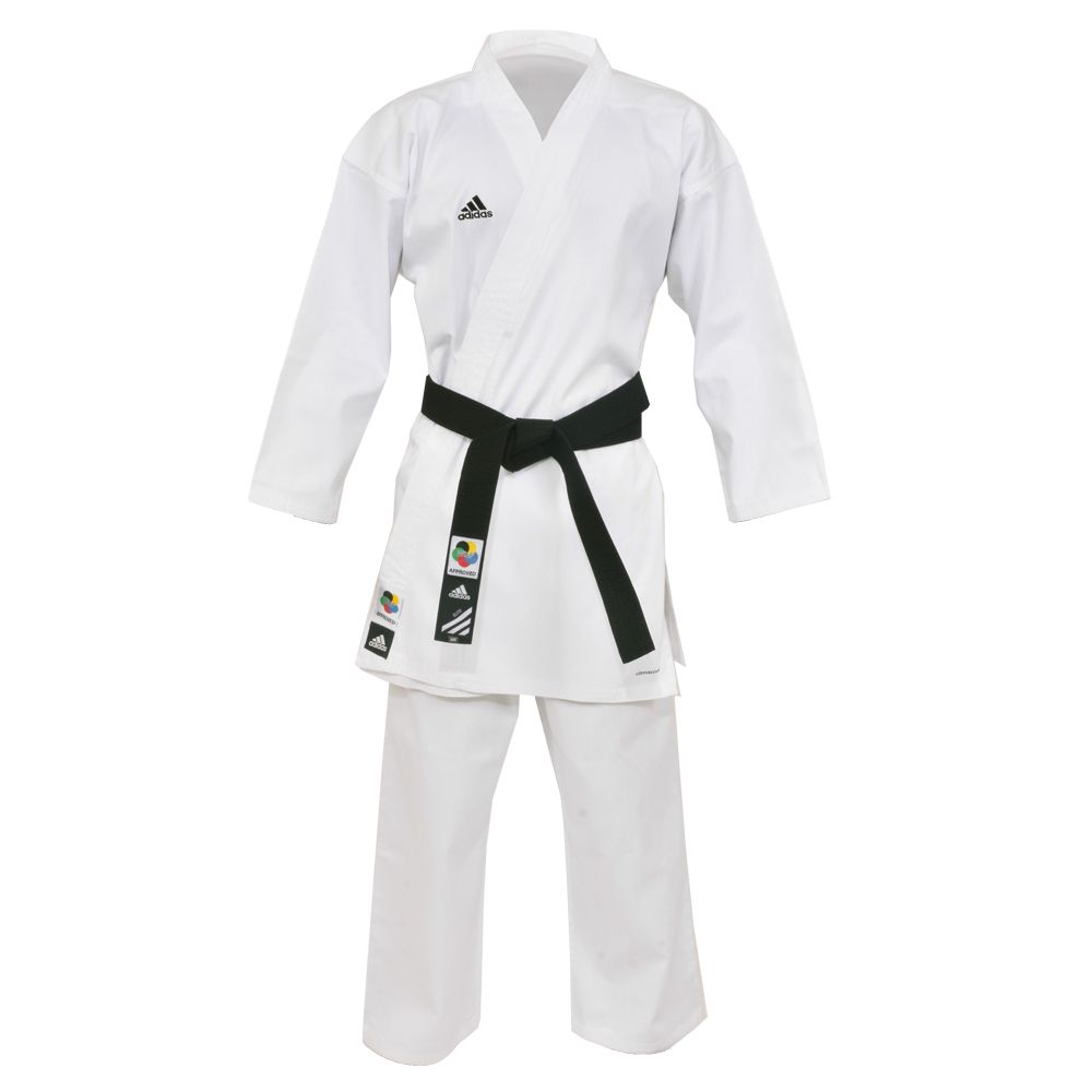 Kimono Karatê Adidas Club com selo WKF K220C