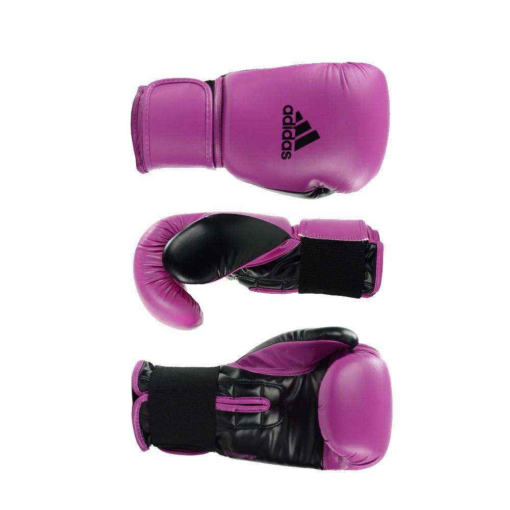 Kit Boxe Muay Thai Luva Power Colors Rosa/Preto e Bandagem Preta 2,55m