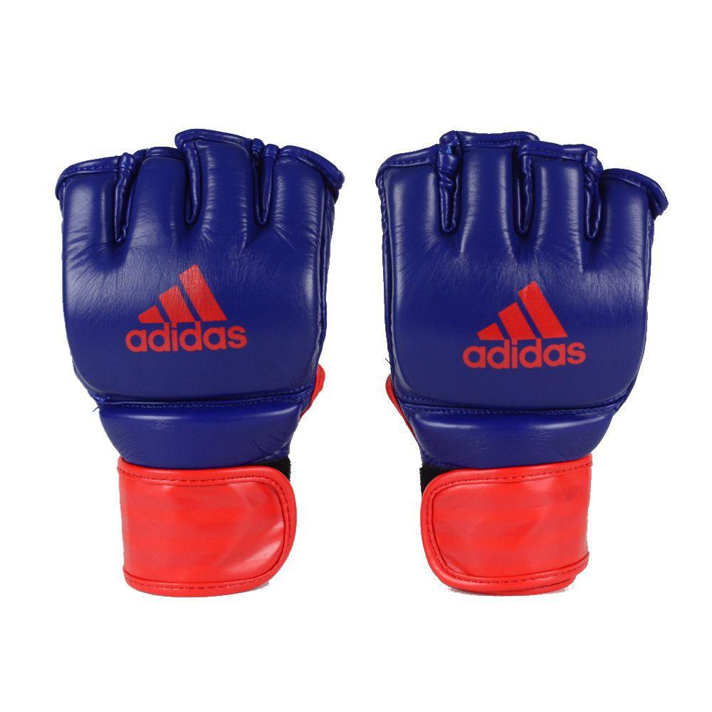 Luva de MMA adidas em Couro legítimo Azul/Vermelha