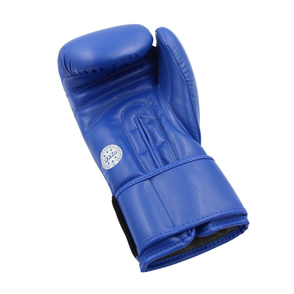Luva adidas WAKO Approved Kick Boxing Competição Azul Couro