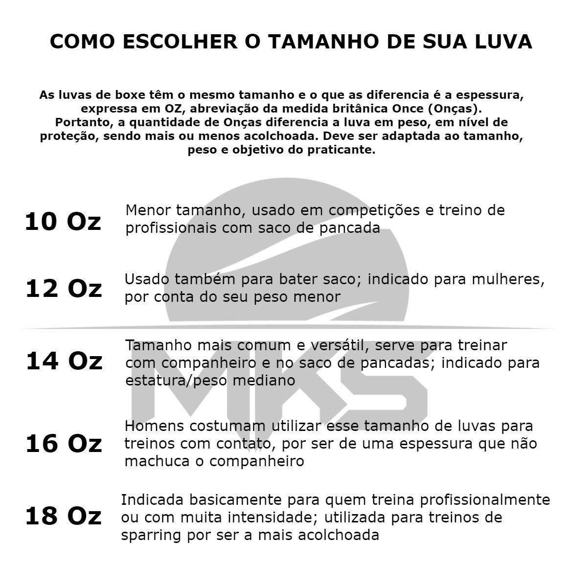 Luva Boxe MKS Profissional Couro Limited Edition