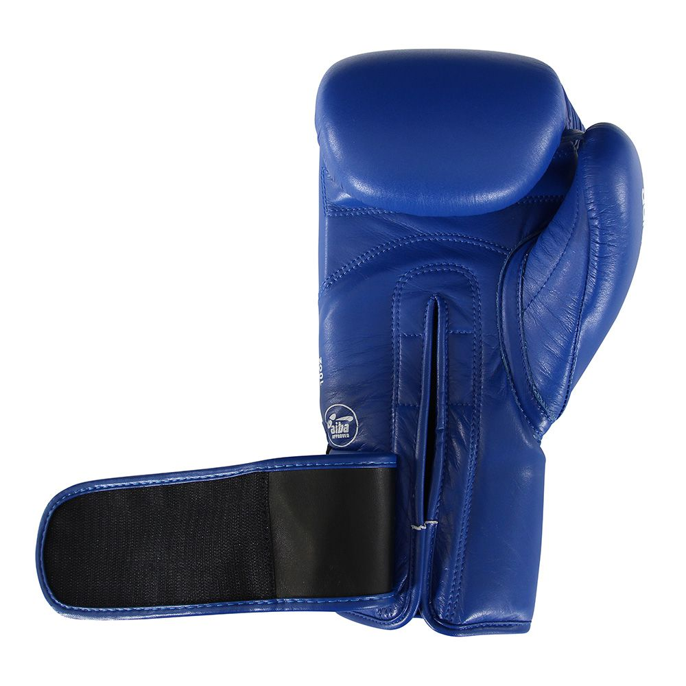 Luva de Boxe adidas AIBA Approved Couro Azul 10OZ