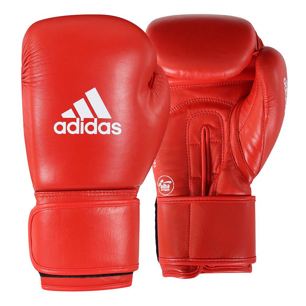Luva de Boxe adidas AIBA Approved Couro Vermelho