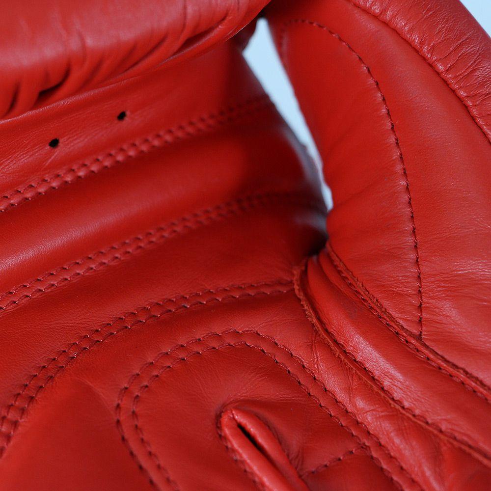 Luva de Boxe adidas AIBA Approved Couro Vermelho 10OZ