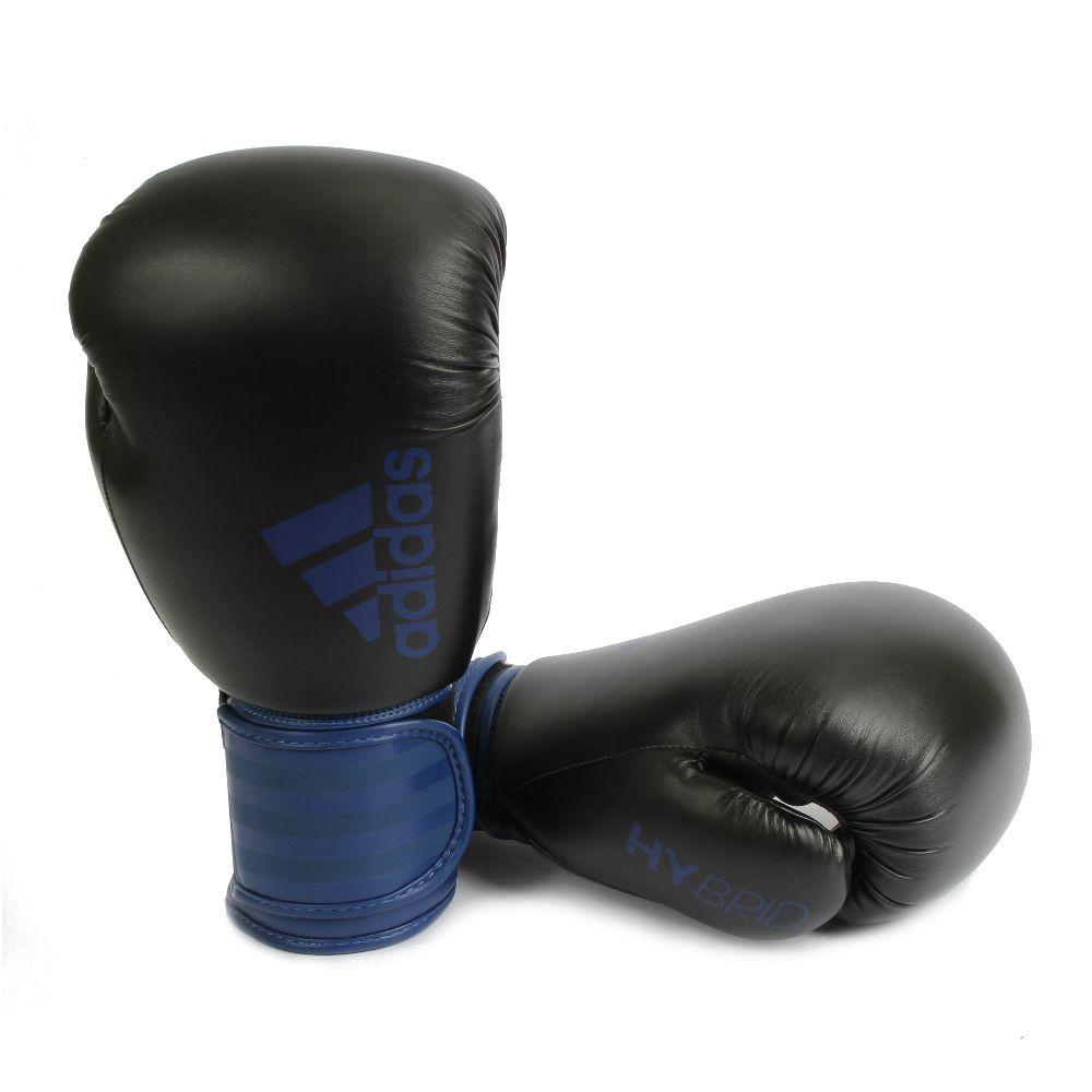 Luva de Boxe adidas Hybrid 100 - Preta/Azul Marinho