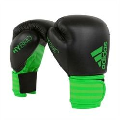 Luva de Boxe adidas Hybrid 100 Preta/Verde