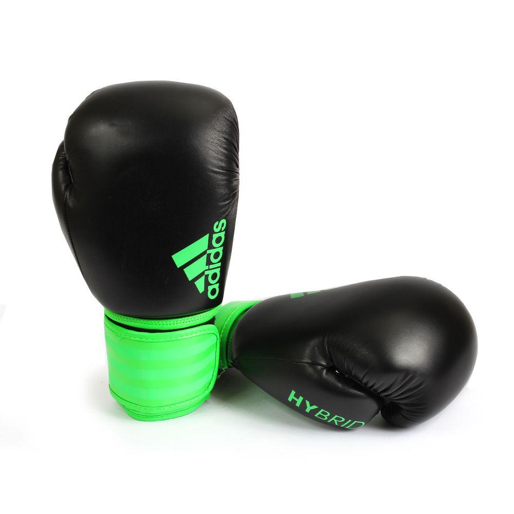 Luva de Boxe Adidas Hybrid 100 Verde/Preto