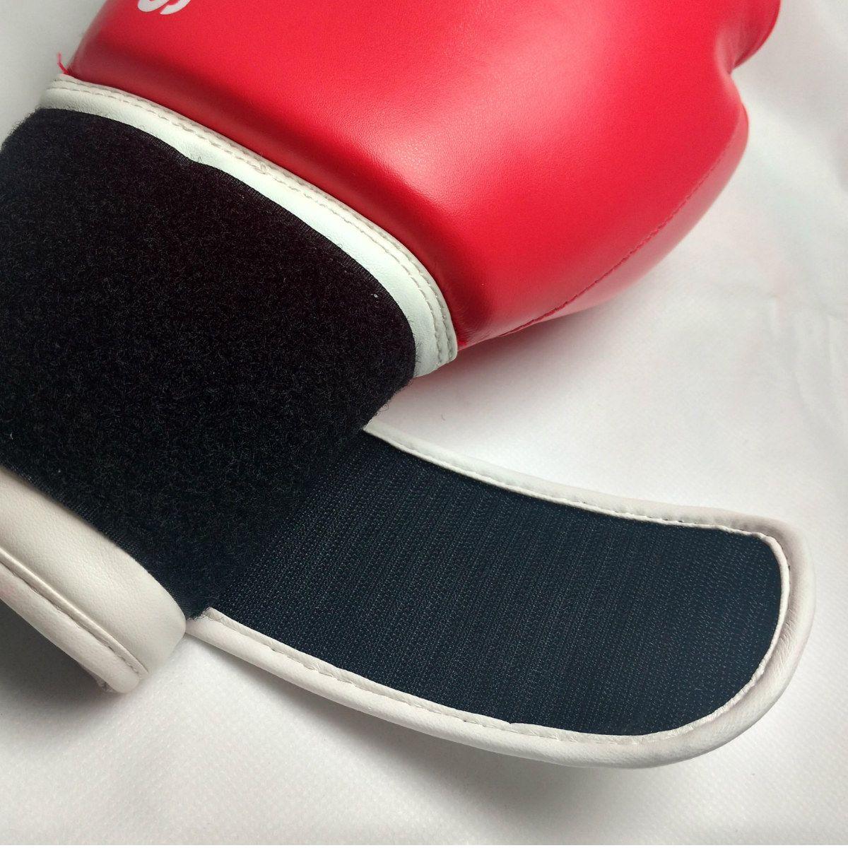 Luva de Boxe Adidas Hybrid 100 Salmão/Branco