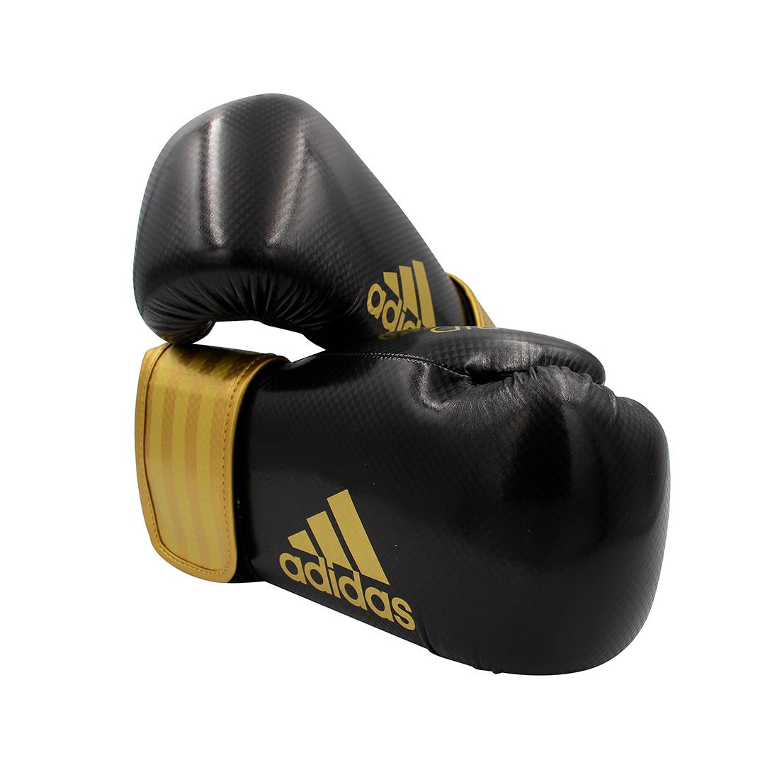 Luva de boxe e kickboxing adidas Hybrid 65 V2 Black Gold
