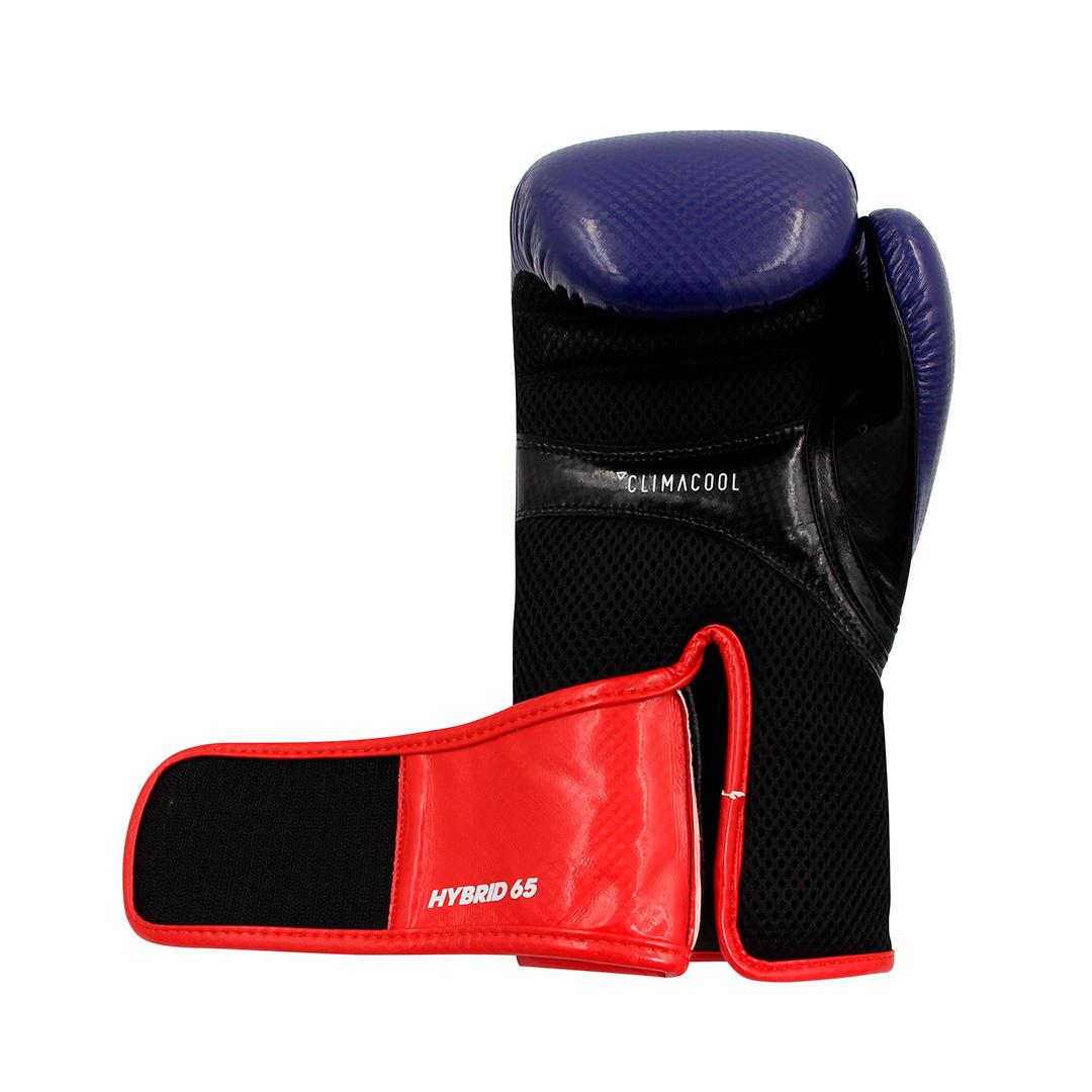 Luva de boxe e kickboxing adidas Hybrid 65 V2 Blue Red