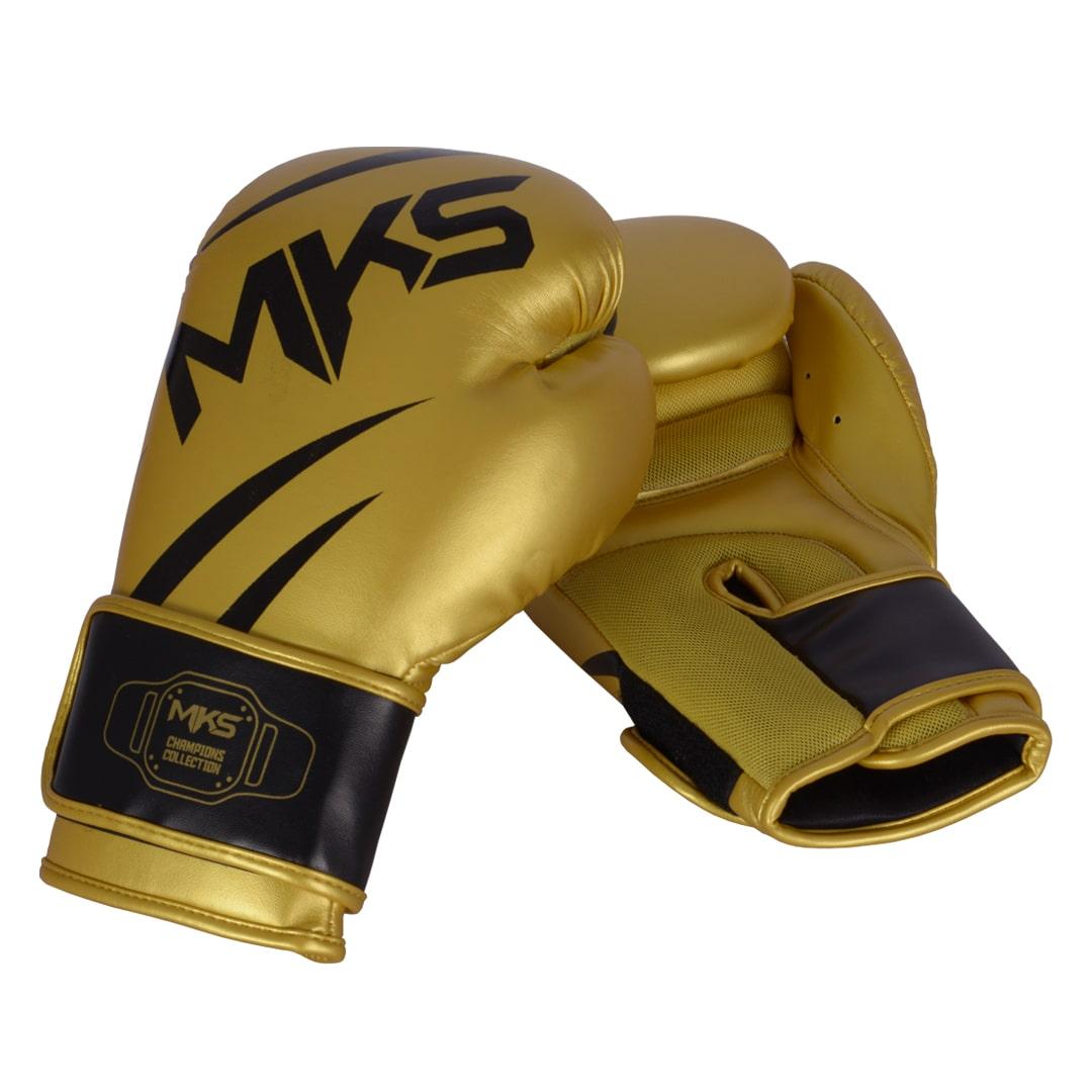 Luva de Boxe MKS Champions V3 Dourada/Preto