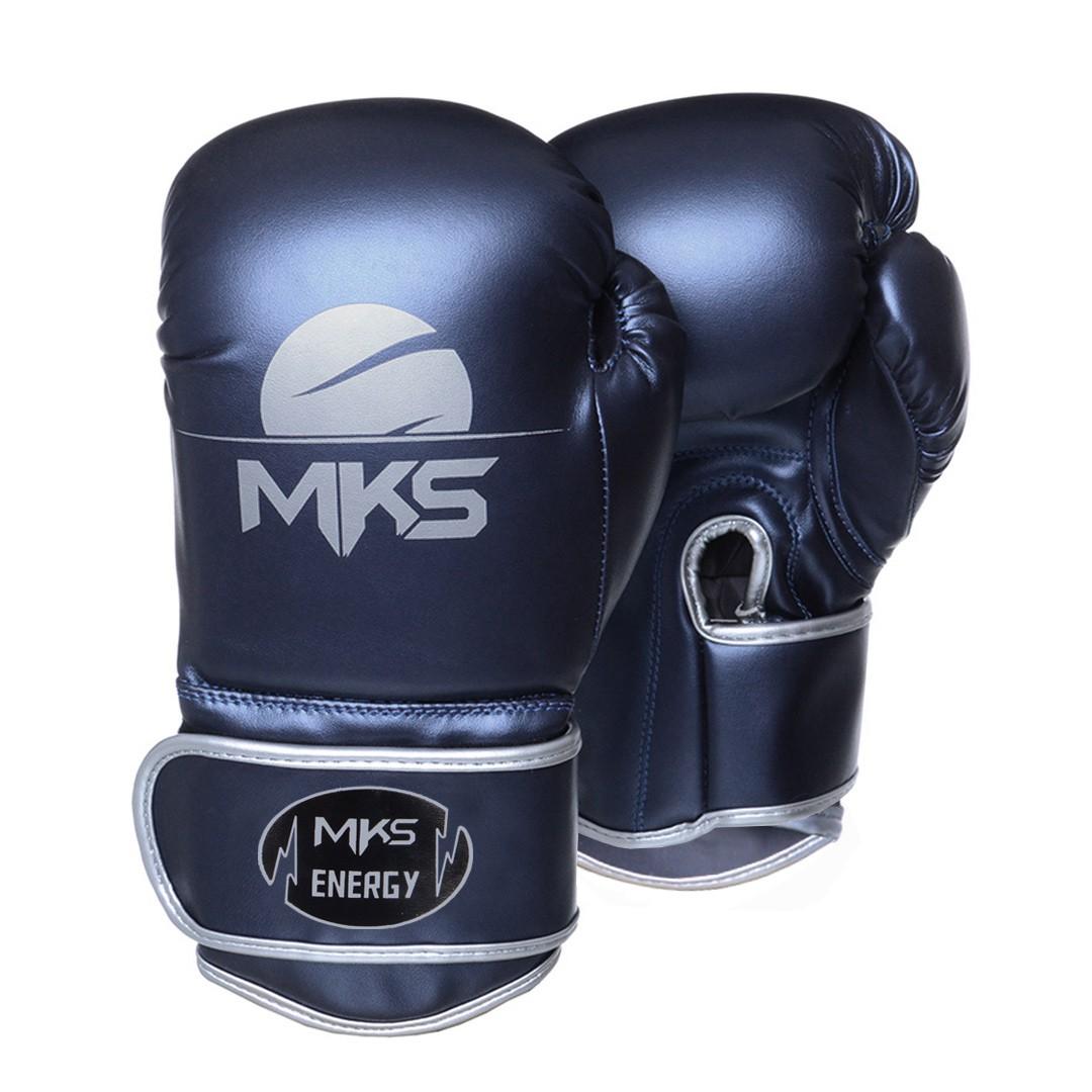 Luva de Boxe MKS Energy V2 Metalic Blue