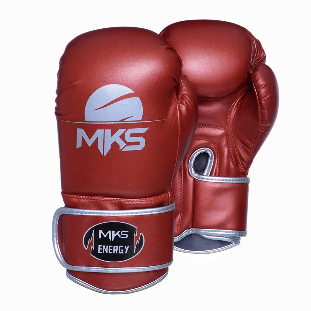 Luva de Boxe MKS Energy V2 Metalic Red