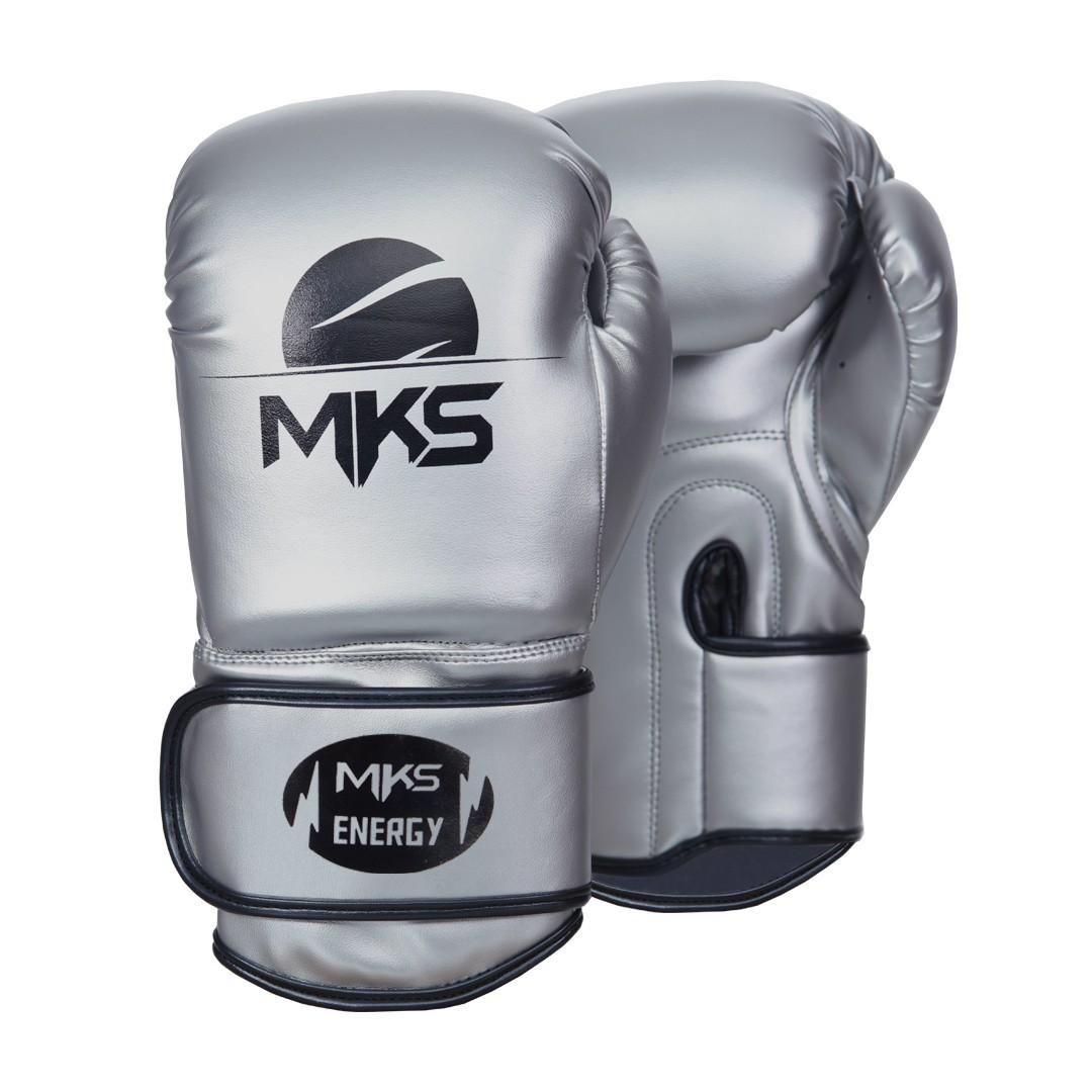Luva de Boxe MKS Energy V2 Silver