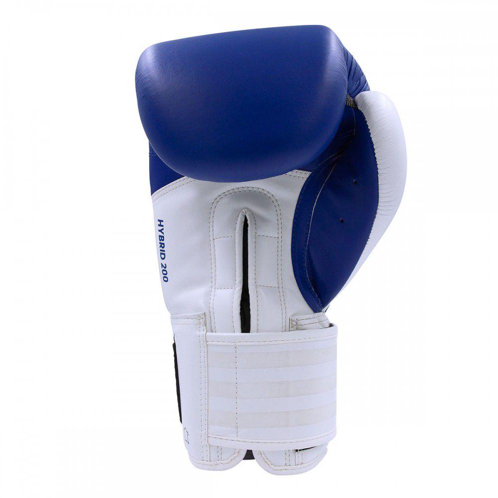 Luva de Boxe Muay Thai Adidas Hybrid 200 Blue White