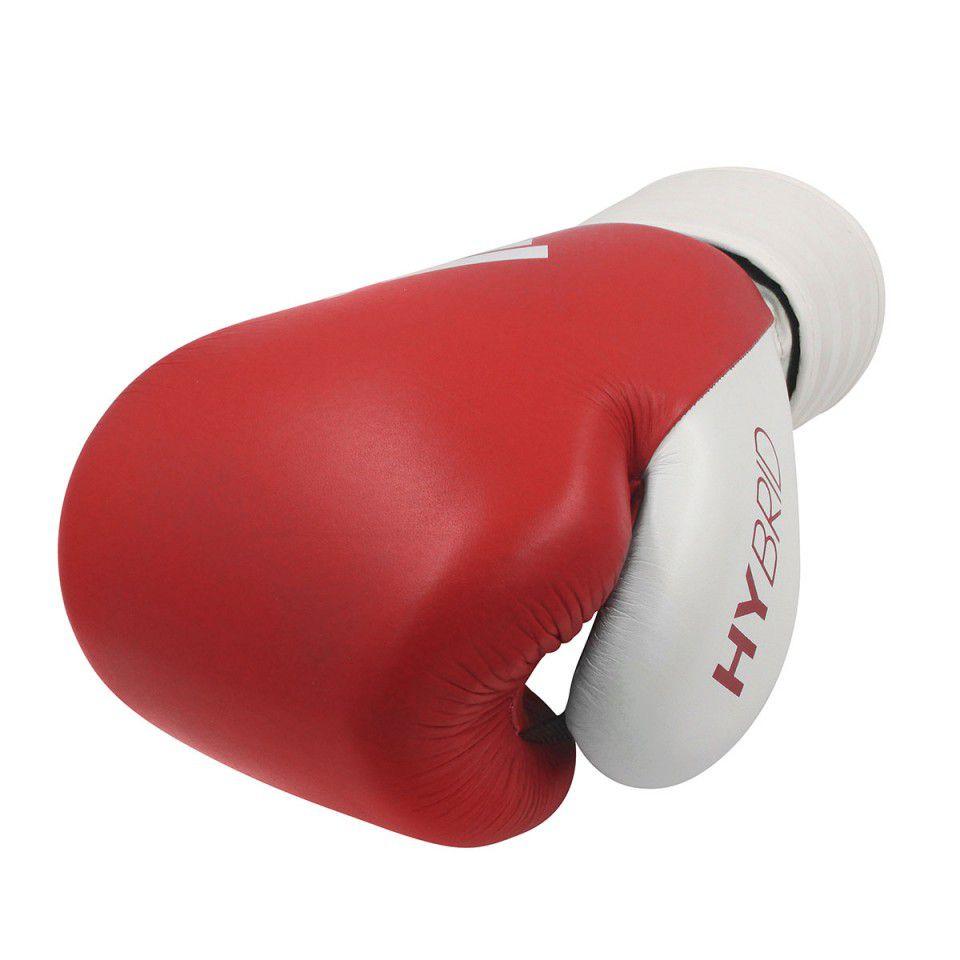 Luva de Boxe Muay Thai Adidas Hybrid 200 Red White