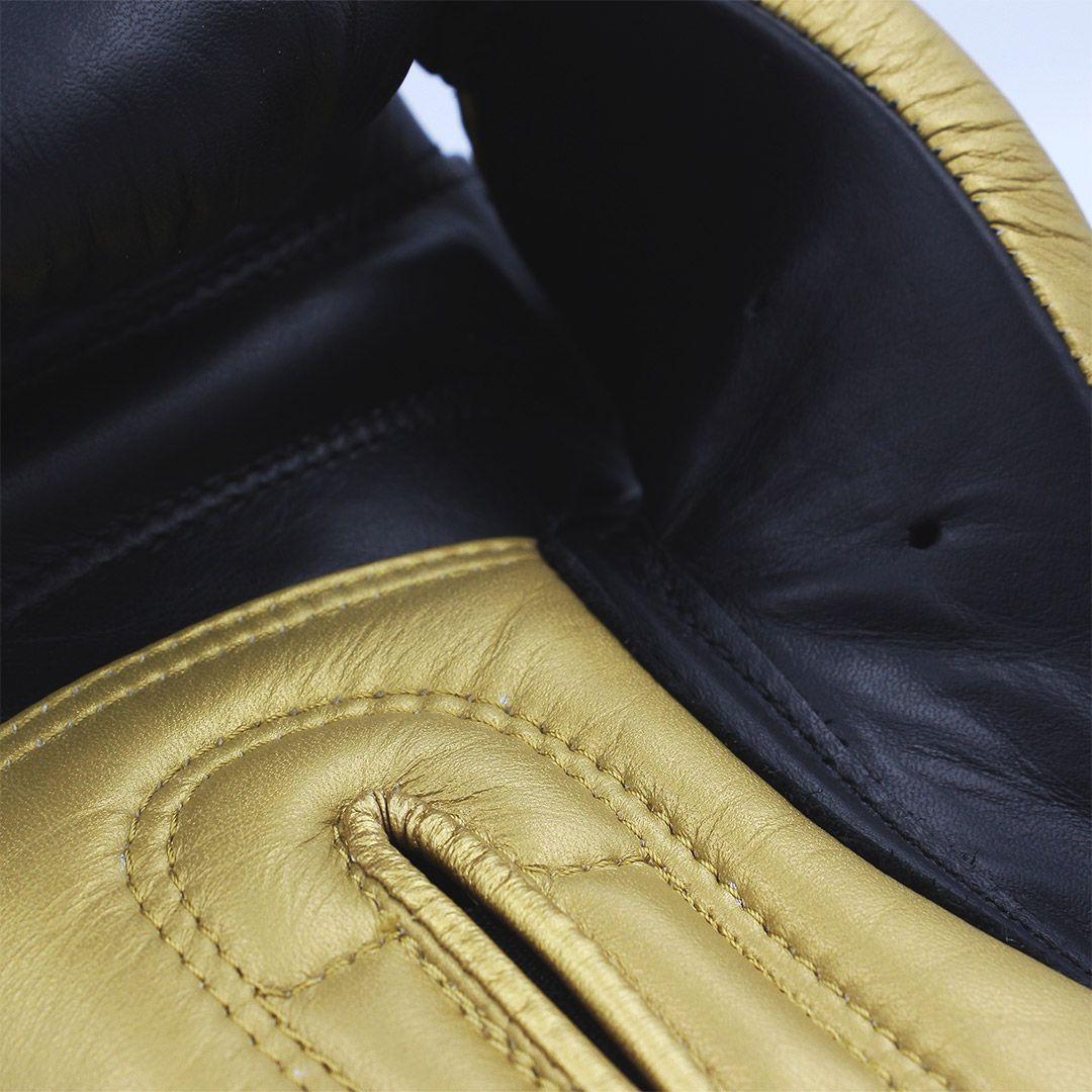 Luva de Boxe Muay Thai adidas Hybrid 300 Preta/Dourada