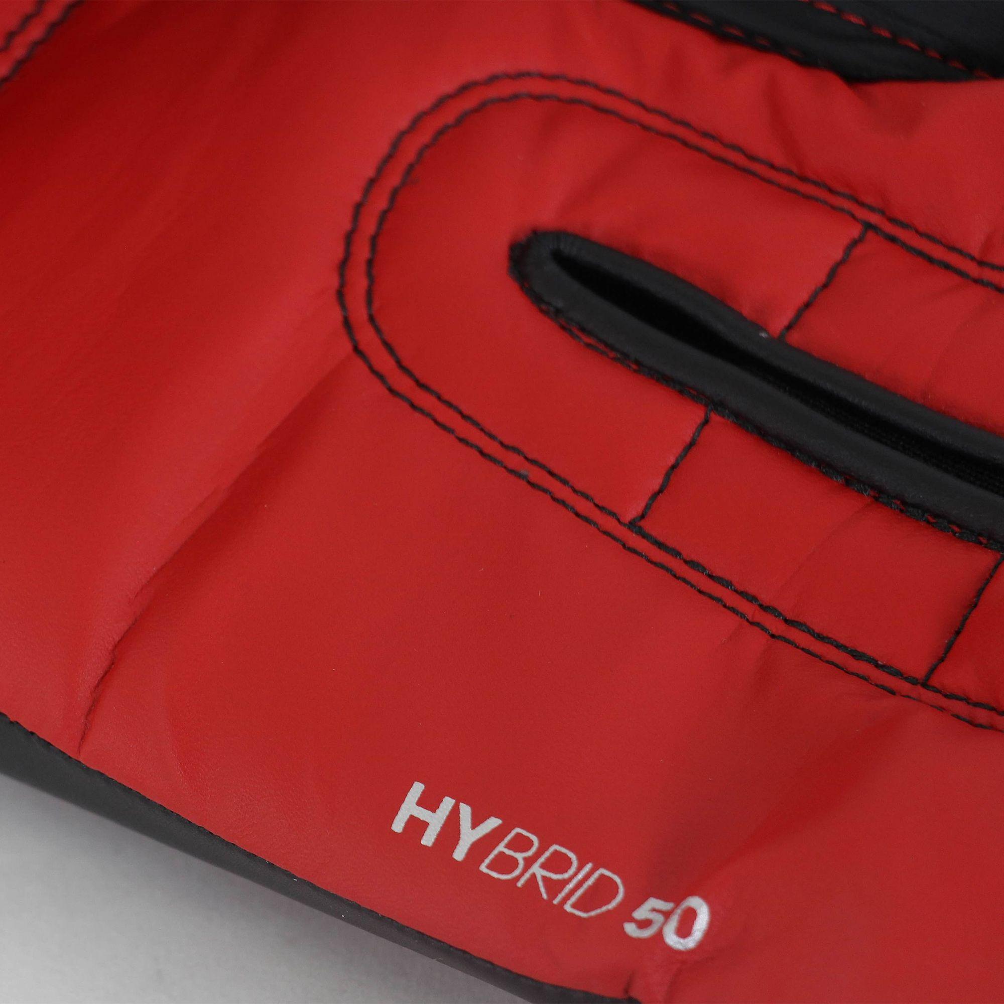 Luva de Boxe Muay Thai adidas Hybrid 50 Preta/Vermelha