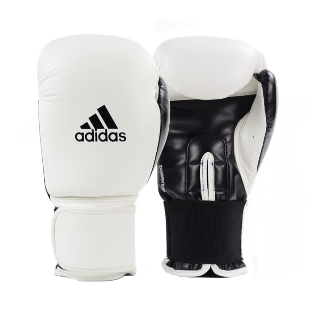 Luva de Boxe e Muay Thai adidas Power 100 Colors - Branca/Preta