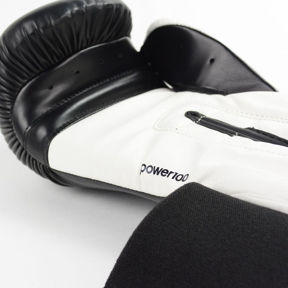 Luva de Boxe e Muay Thai adidas Power 100 Colors - Preta/Branca