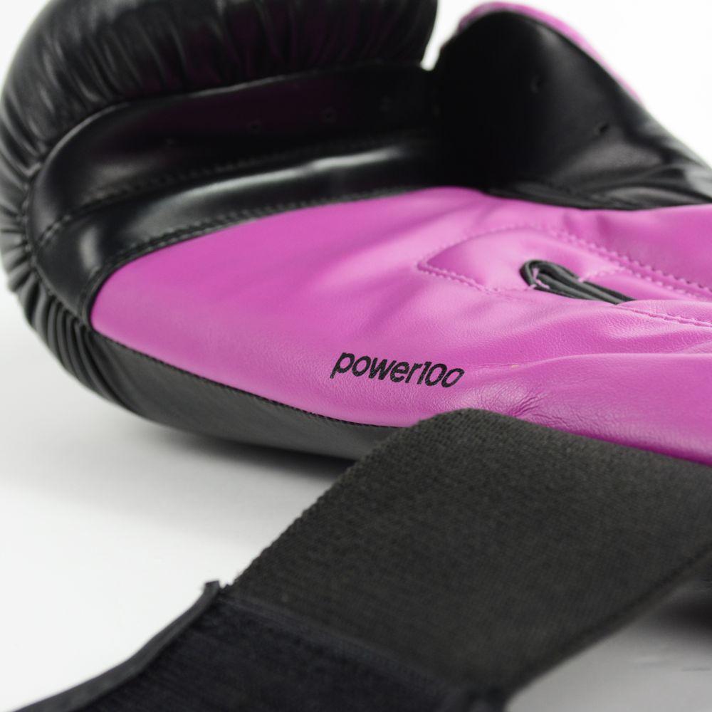 Luva de Boxe e Muay Thai adidas Power 100 Colors - Preta/Rosa