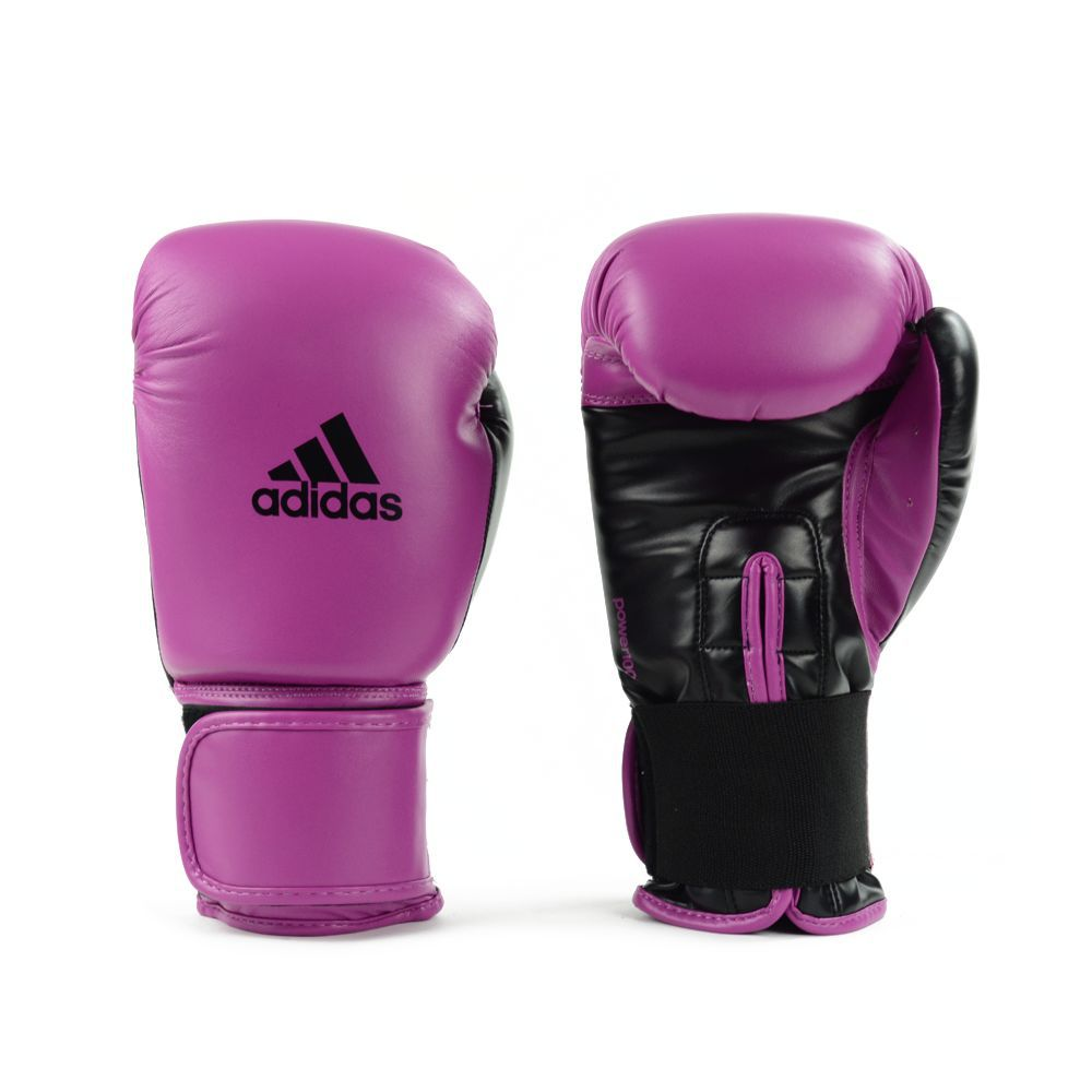 Luva de Boxe e Muay Thai adidas Power 100 Colors - Rosa/Preta