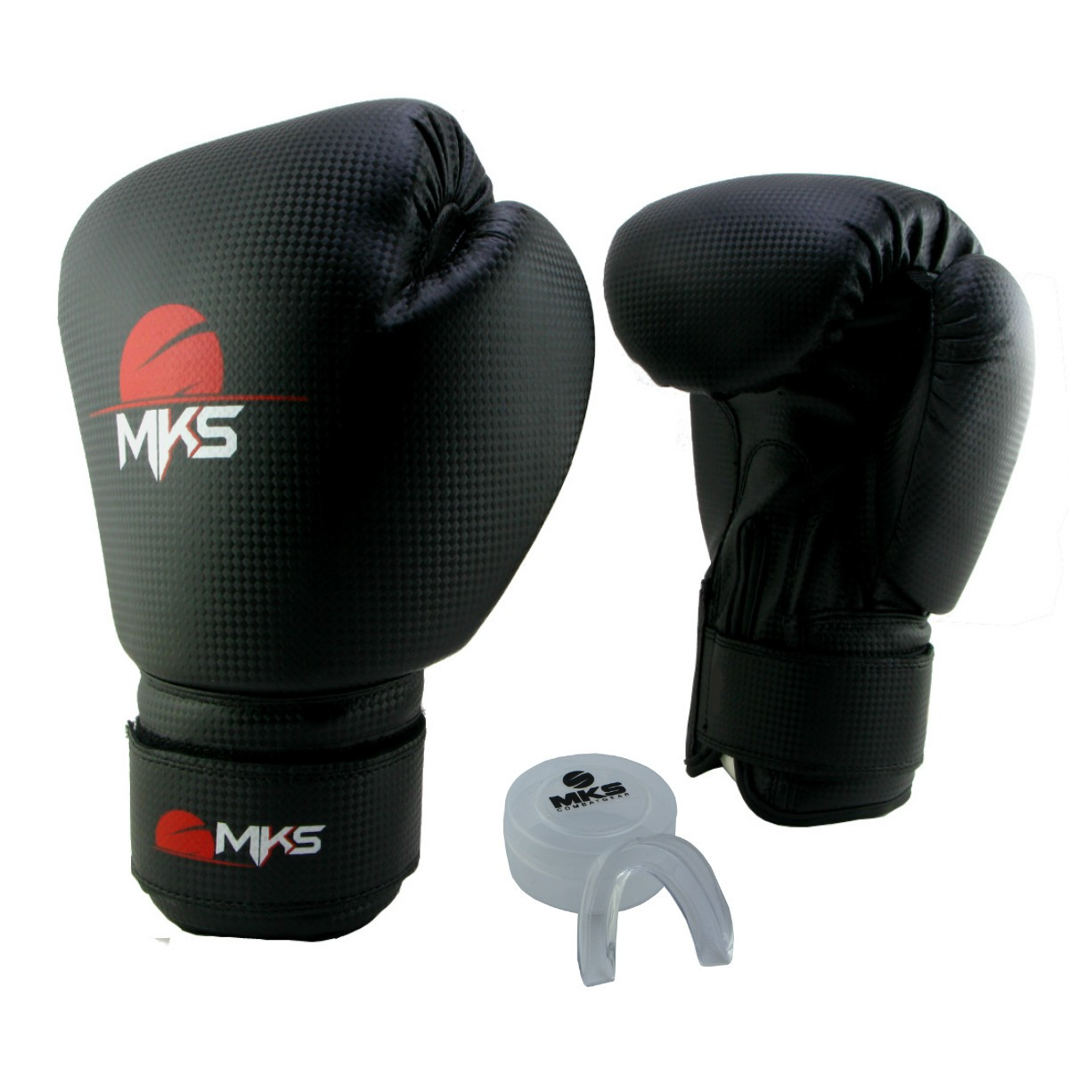 Luva de Boxe Prospect MKS Preta 14 oz + Protetor Bucal