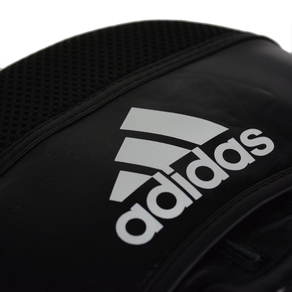 Luva de Foco Rapida Adidas Classic Air Pro em Couro Preto/Branco