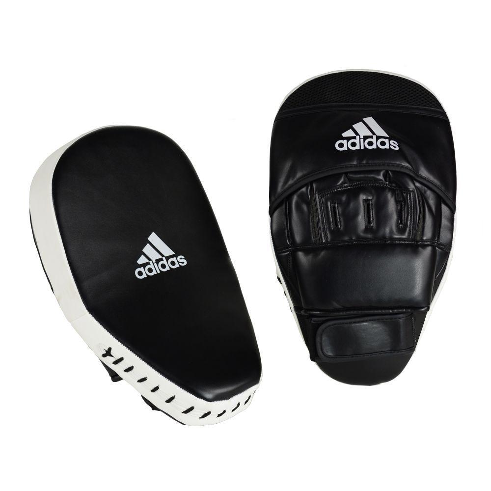 Luva de Foco Adidas Curva Longa em PU Branco/Preto
