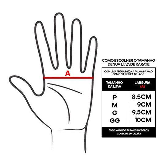 Luva de Karatê adidas  Competition Vermelha - Selo WKF