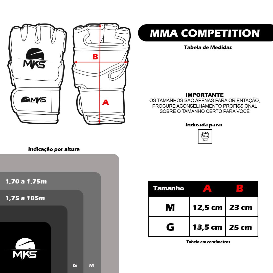 Luva de MMA MKS Combat Competition