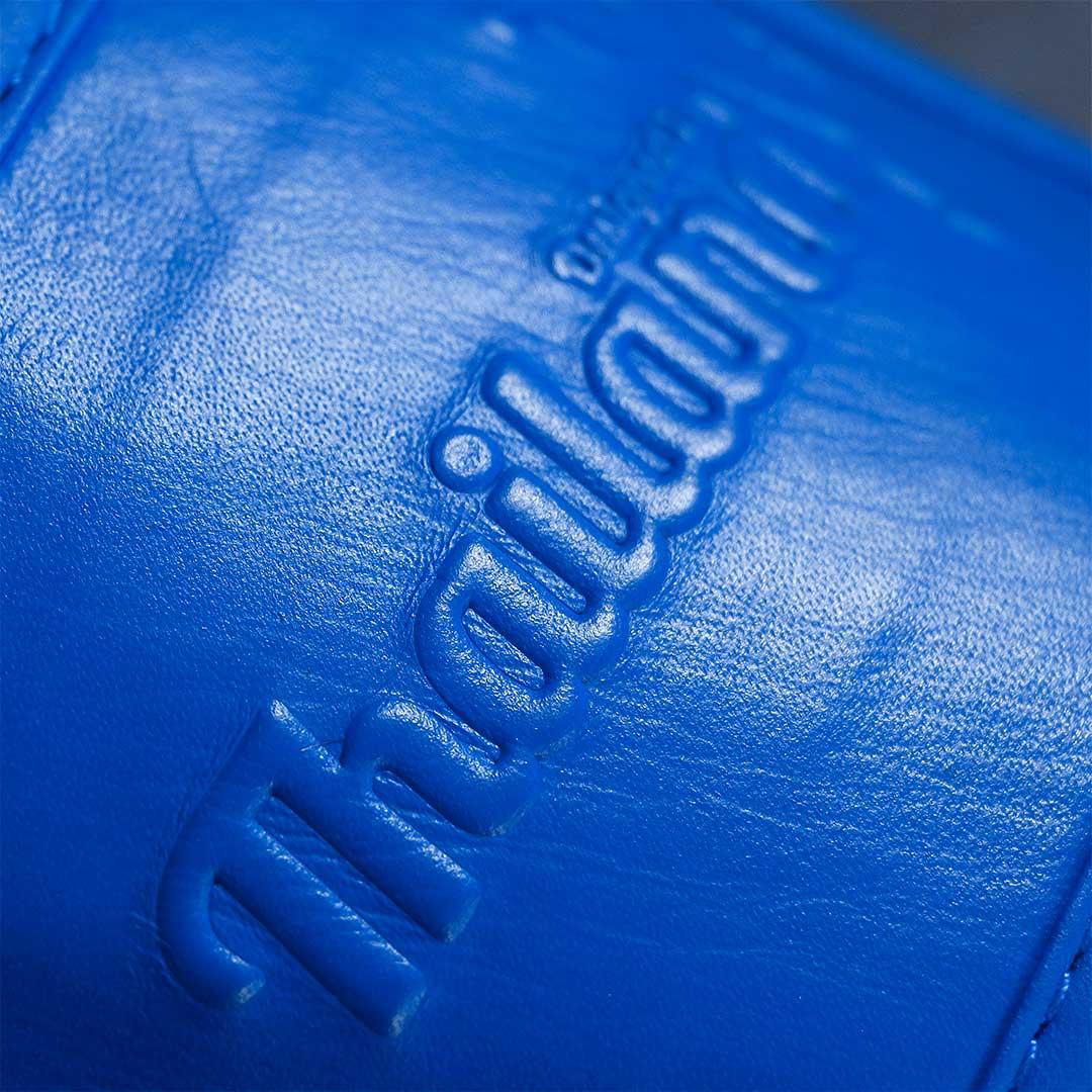 Luva de Muay Thai adidas Couro Blue Pro Thai