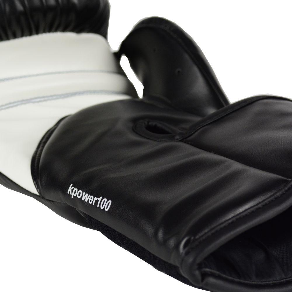 Luva de Kickboxing adidas KPower 100 - Preta/Branca