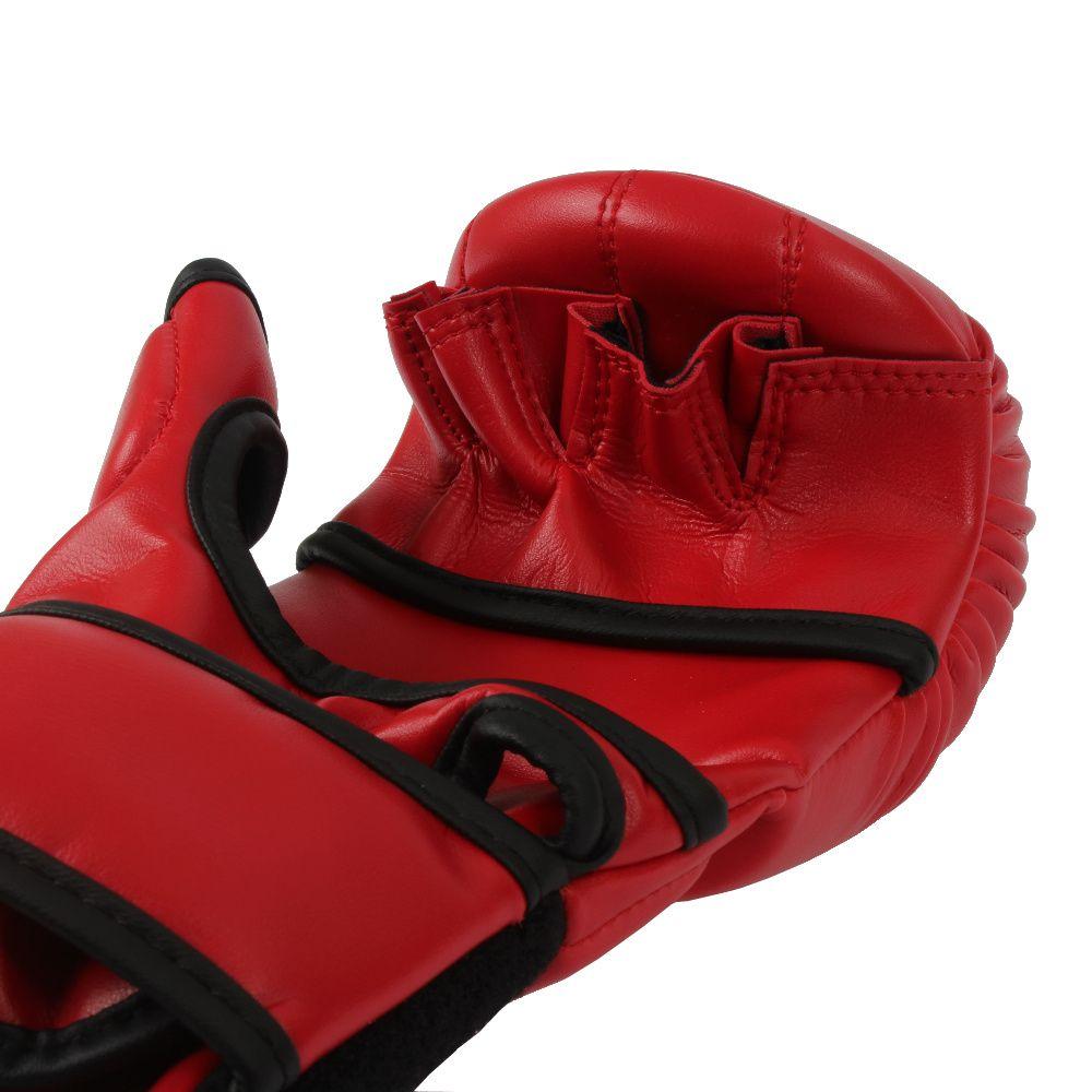 LUVA MMA SPARRING MKS Combat Vermelha/Branca