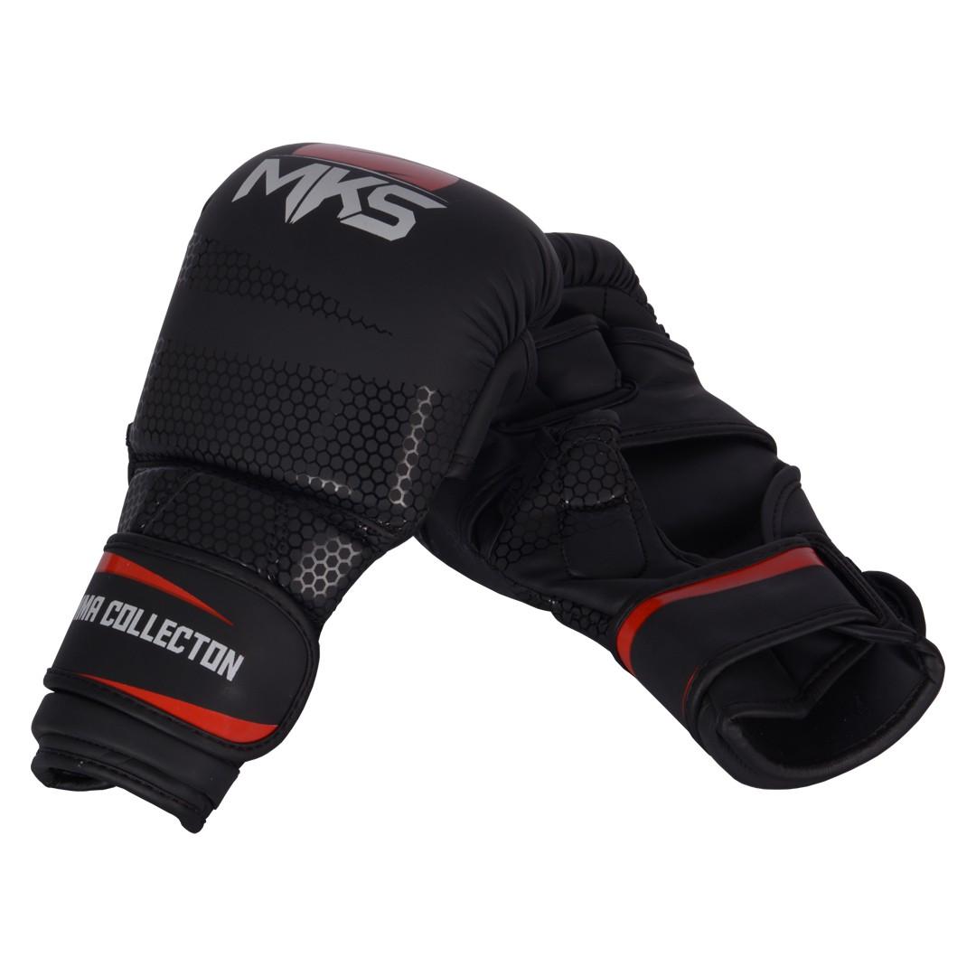 Luva MMA Sparring MKS Preta/Vermelha