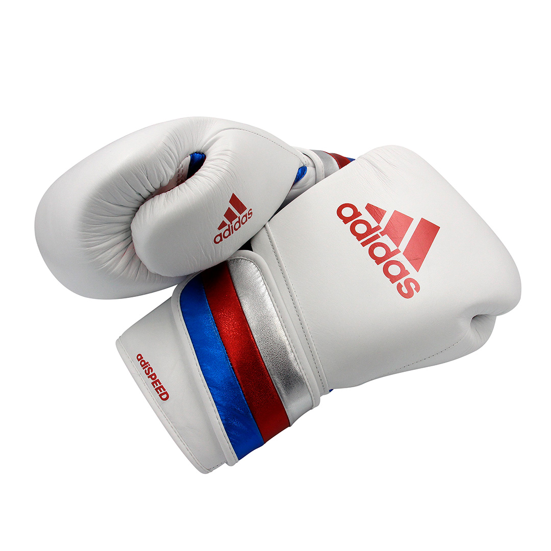 Luvas de boxe e kickboxing adidas Adi-Speed 501 Pro White