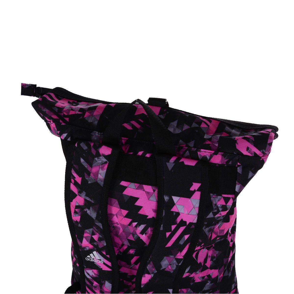 Mochila Adidas Boxing Camuflada Rosa/Prata 10 Litros