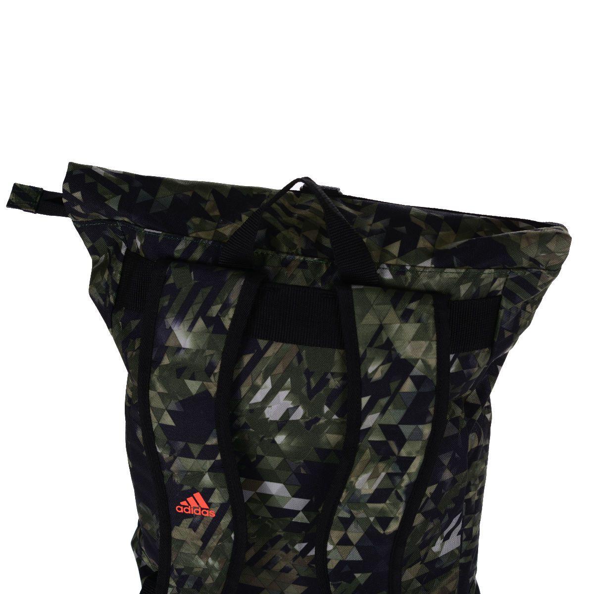 Mochila adidas Karate Camuflada Verde/Laranja - 10 Litros