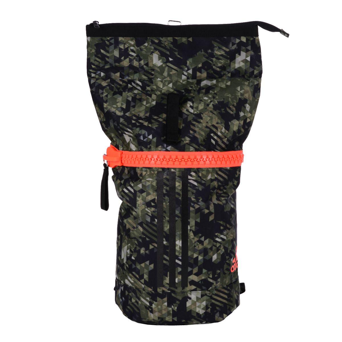 Mochila Adidas Karate Camuflada - Verde/Laranja 25 Litros