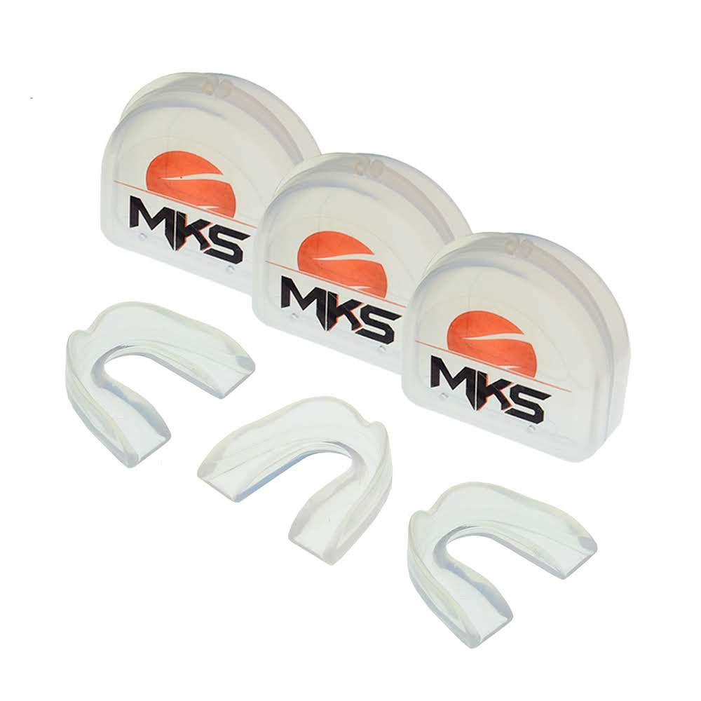 Protetor Bucal Simples de Silicone MKS - Pack com 3 + Estojos