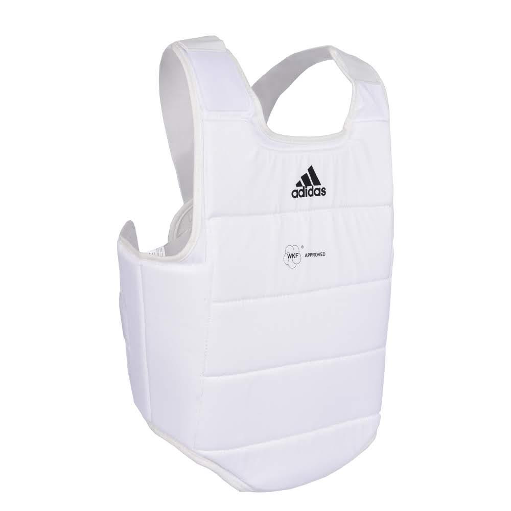 Protetor de Torax adidas Branco c/ Logo Preto - Selo WKF
