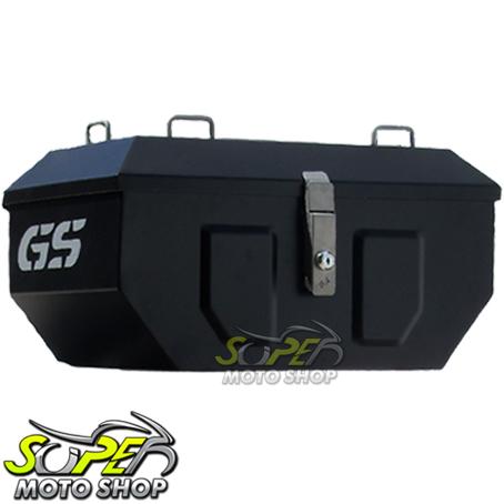 Bauleto   Baú Top Case MotoPoint de Alumnio Adventure Box 46 Litros + Base  + Bolsas ... 17b517af481